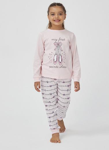 Penti Kız Çocuk INCI  Shoes 2'li Pijama Takım PN10KKTM20SK Beyaz